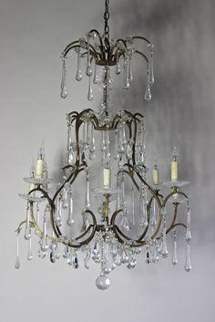 Italian antique chandelier circa 1920 the norfolk country house antique chandelier italian circa 1920 httpantiquelightingandchandeliers aloadofball Images
