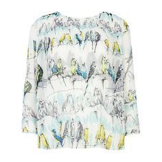 Buy Ted Baker Canary Top, White Online at johnlewis.com
