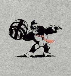 Banksy Kong - BustedTees - Image 0