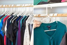 Change the direction of hangers with every use to determine which clothes you should donate.