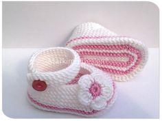 Taufbekleidung - Taufe Mädchen Taufe Ballerina Babyschuhe Gr. 14-19 - ein Designerstück von Markimo bei DaWanda