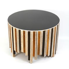 Lavish Table; Unique round table, each section individually handcrafted with an abundance of mother of pearl inlay. Designed by: Racha Kouzbari Khoja. To be ordered online through www.levantania.com