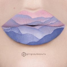 """1,790 Likes, 48 Comments - Andrea    Victoria, BC (@girlgreybeauty) on Instagram: """"#Mountains at #Dusk #LipArt Pt 2 in this series. @sarahmcgonagall did a lip art like this awhile…"""""""