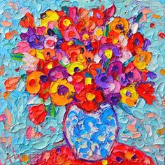 Great Works Of Art, Oil Painting Texture, Palette Knife Painting, Paintings For Sale, Flower Art, Fine Art America, Art Projects, Art Prints, Visual Arts