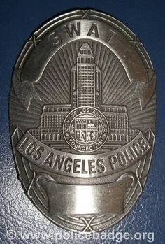 Badge LAPD SWAT black by dynamicentry122, via Flickr