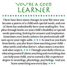 earning a Life Experience Degree... in helping your child...  BE THAT LEARNER!