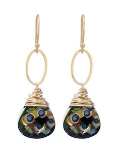 Moonrise Jewelry - Cairo Earrings- Peacock