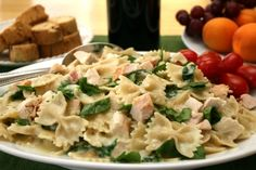 The Simple Skillet | BowTie Pasta with Spinach and Chicken