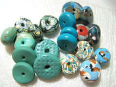Polymer Clay Disc Beads Handmade