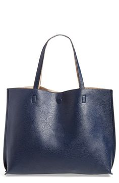 Street Level Reversible Vegan Leather Tote & Wristlet available at #Nordstrom