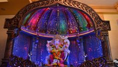 Decorations will look brilliant at the time of evening aarti when you switch off the other lights.