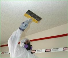 How to Remove Popcorn Ceiling Using Easy Methods: How To Remove Popcorn Ceiling With Mouth Mask ~ gamesbadge.com DIY Inspiration
