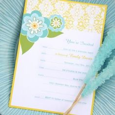 Printable Party Invitations {Free}