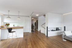 Wohnküche mit Parkplätzen für Schiebetüren