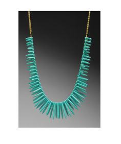 Turquoise Stick Necklace LIIMITED TIME ONLY $45 (Original $74) at Obaz.com. Pair this with a simple Tshirt to snaz up your look.