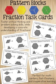 Teaching fractions using pattern blocks!  Go beyond worksheets, procedures, and rules when teaching fractions.  Engage your students while teaching fractions with depth and understanding.
