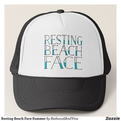 Shop Resting Beach Face Summer Trucker Hat created by RedwoodAndVine. Geordie Slang, Beach Humor, Funny Beach, Cute Typography, Slang Phrases, Hat Making, Newcastle, Scooby Doo, Retro Fashion
