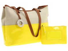 Nine West Off the Hook Medium Tote Yellow/Natural/Cognac - Zappos.com Free Shipping BOTH Ways
