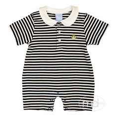1bd187e7e683 Bella Bliss Boys Submarine Striped Pima Romper from Madison-Drake  Children's Boutique