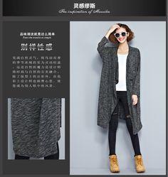 外貿大碼女裝2016秋季新款韓版加肥加大長袖針織開衫-淘宝网全球站