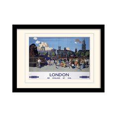 """London """"9"""" Mounted Framed Vintage Advertisement"""