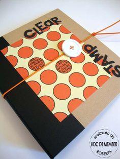 "Hobby di Carta - Il blog: PROGETTO DEL MESE: "" Clear Stamp in ordine!! "" by Roberta - tutorial"