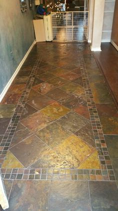 X Laid On A Brick Pattern On A Patio Tile And Stone Floors - 20x20 slate tile