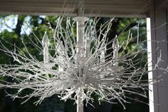 Southern DIY Diary: Branch chandelier... How-to!