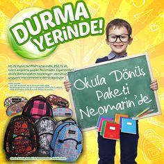 10 - 22 Eylül tarihleri arasında 250 TL ve üzeri alışveriş yapan #Neomarin ziyaretçileri okula dönüş paketi kazanıyor; çocuklar yepyeni malzemelerle okula başlıyor.