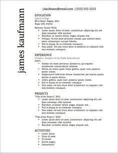free resume template - Word Resume Templates