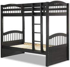 Triplet Java Solid Wood Twin/Twin Bunk Bed