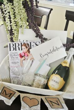 Wedding Planning Gift Basket : planning diy gift ideas basket gift forward engagement basket gift ...
