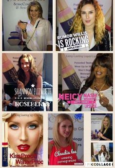 Here are a few celebrities who love rocking their LipSense!