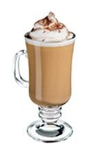 Alpine Baileys. Enjoy this drink beside a nice warm fire on a cold winter night! The Alpine Baileys drink is made from Baileys Irish Cream, hot coffee and peppermint schnapps, and served in an Irish coffee glass.