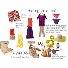 Packing for a Trip by stylistsusan on Polyvore featuring Mossimo, Merona, Xhilaration, Mix & Match, Valextra, Converse, Kenneth Cole, Timex, River Island and Champion