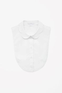 COS Mock shirt with scallop collar  in White