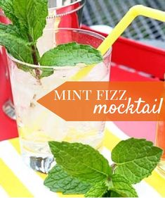 This mint fizz mocktail that's cool and refreshing for the Mom-to-be at her baby shower!