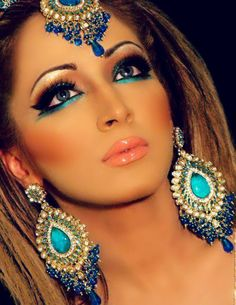 persian women makeup & jewels