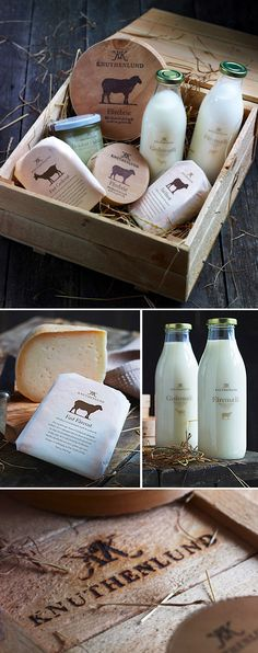 brand identity | cohesive | packaging design  //  knutherlund, beautiful, tactile branding (sheep & goat's milk products)