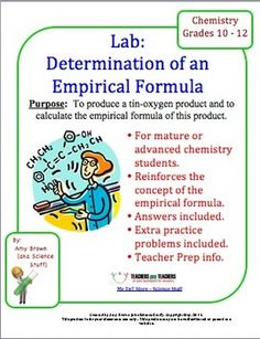 Purpose: To produce a tin-oxygen product and to calculate the empirical formula of this product.