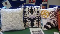 Dark satanic mills, mirrored and cogs cushions. Chesterfield Library, Cogs, Celebration, Old Things, Cushions, Throw Pillows, Display, Stitch, Dark