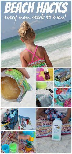 beach hacks for moms