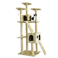 Hot Sale 73 Cat Tree Scratcher Play House Condo Furniture Toy Bed Post Pet House T07 Condo Height 73 Beige -- Check out this great product.
