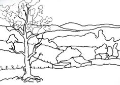 Landscape line drawing - Google Search