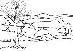 Landscape line drawing - Google Search