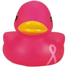 Great Small Giveaway to Show Support! Rubber Pink Awareness Duck | Promotional Rubber Duck | Imprinted Ducks