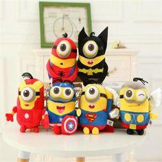 Minions Cosplay Superheroes Plush Doll