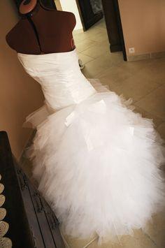 Robe de mariée bustier cymbeline + jupon d'occasion