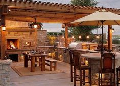 Brilliant Ideas For Outdoor Kitchen Design, Build & Remodel. See more ideas about outdoor kitchen design ideas, outdoor kitchen design plans, outdoor kitchen design for small space. Outside Living, Outdoor Living Areas, Outdoor Rooms, Outdoor Decor, Outdoor Kitchens, Rustic Outdoor, Living Spaces, Backyard Kitchen, Outdoor Kitchen Design