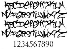 Cool Graffiti Fonts Sketches - Wild Style